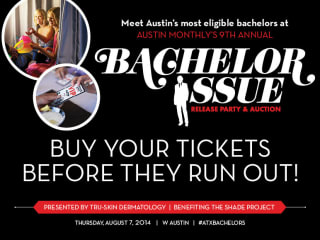 Austin Monthly release party with Bachelor auction August 2014