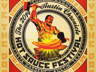 poster Austin Chronicle 24th annual Hot Sauce Festival