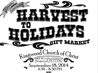 Sixth Annual Harvest to Holidays Gift Market and Silent Auction