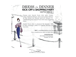 "Recipe for Success Foundation hosts ""Dress for Dinner Kick-Off & Shopping Party"""