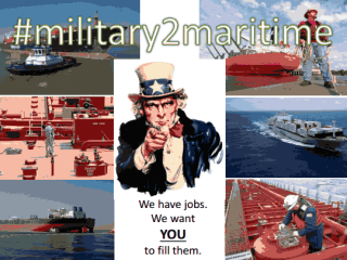 Military to Maritime Career Fair hosted by American Maritime Partnership and Port of Houston Authority