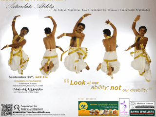 """AID Houston presents """"Articulate Ability: An Indian dance ensemble by visually challenged performers"""""""