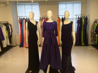 Escada evening gowns in New York showroom