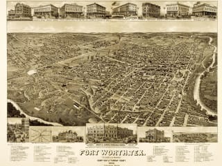 Old map of Fort Worth