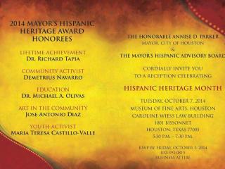 2014 Mayor's Hispanic Heritage Awards
