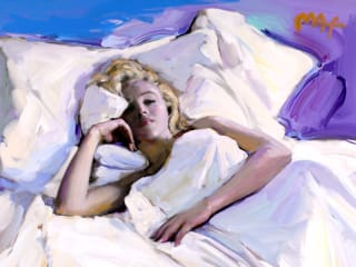 Peter Max Marilyn Monroe Art