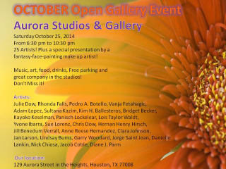 Aurora Studios and Gallery October Open Gallery Art Show