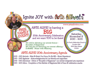 "Arts Alive hosts ""Ignite the Joy"" Celebration"