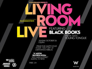 Living Room Live with Black Books and Young Tongue 2014