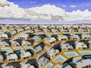 Redbud Gallery art opening reception: There is no 'I' in suburb by R. Michael Wommack