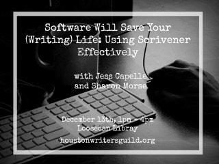 Houston Writer's Guild hosts Scrivner Intensive Workshop