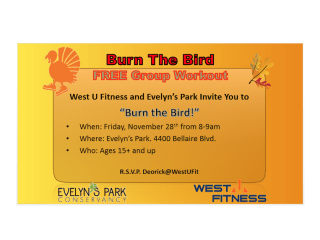 """Burn the Bird"" at Evelyn's Park"
