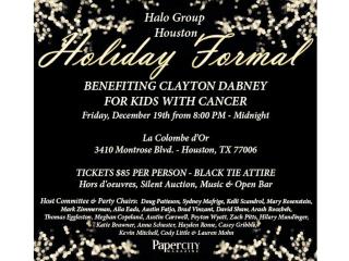 Halo Group Houston Holiday Formal benefiting the Clayton Dabney Foundation