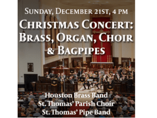"St. Thomas' Episcopal Church Christmas Concert: ""Brass, Organ, Choir & Bagpipes"""