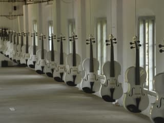 """CounterCurrent Festival 2015: """"A Sculptural Installation and Film Work by Ibrahim Quraishi: Islamic Violins (ED. II)"""""""