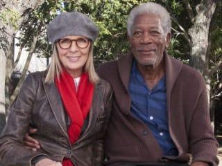 Diane Keaton and Morgan Freeman in 5 Flights Up