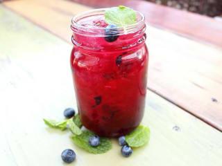 Mash'D San Antonio Blue Moon Mojito moonshine cocktail