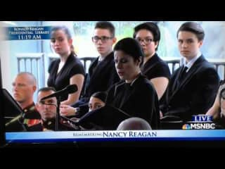 Ana Maria Martinez sings at Nancy Reagan funeral