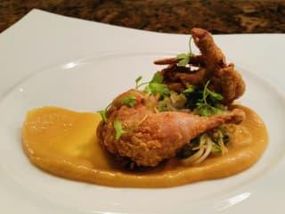 The Carillon chicken fried quail dish food Austin restaurant
