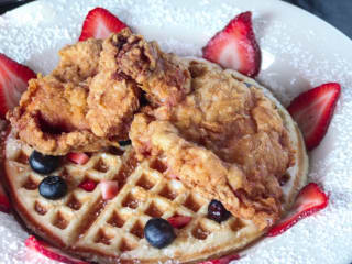 Chef Point chicken and waffle