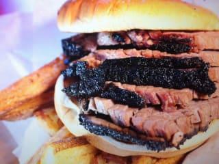 Meat U Anywhere brisket sandwich