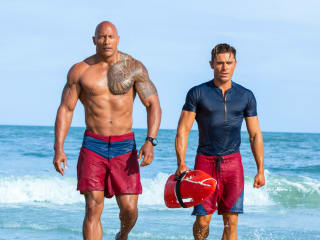 Dwayne Johnson and Zac Efron in Baywatch