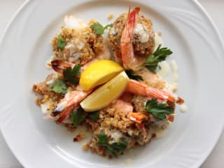 Juliet Italian Kitchen stuffed shrimp oreganata