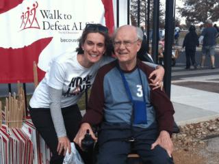 Jennifer Slaski Halligan and her father