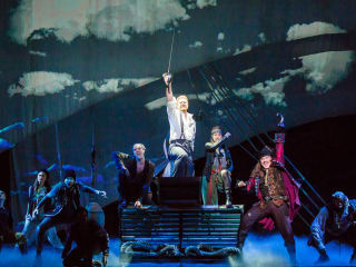 The cast of the national tour of Finding Neverland