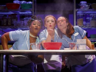 Charity Angel, Dawson Desi Oakley, and Lenne Klingaman in the National Tour of Waitress