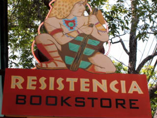 Austin photo: Places_Shopping_Resistencia Bookstore_Sign