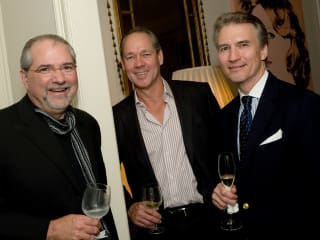 News_Cinema Arts Fest Nov. 2009_Wyatt party_Bob Cavnar_Jim Crane_Sanford Criner
