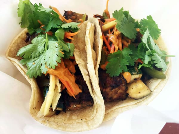 Austin Daily Press tempeh vegetable taco Flying Tempeh Bros