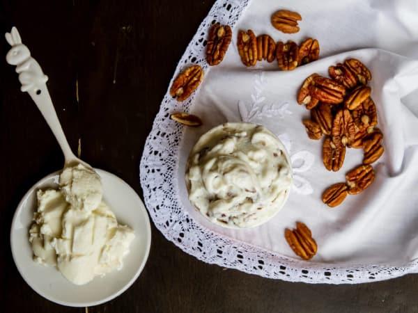 Dolce Neve goat milk ricotta and pecan gelato