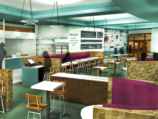 Bullock Texas State History Museum cafe restaurant rendering