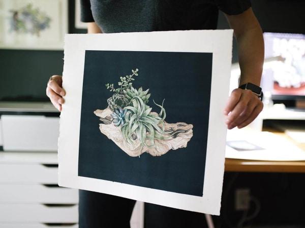 Chloe Draws Chloé Yingst art succulent