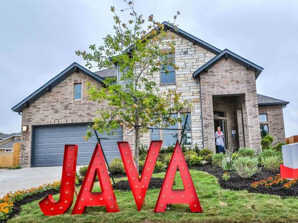 Easton Park development Austin home house java sign
