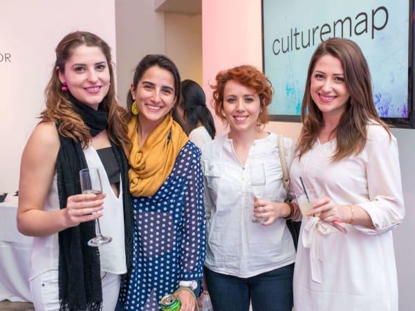 CultureMap Social, March 2016,  Sheila Shtepani, I. Maria Calderon, Gresa Baboci, Christine Shtepani
