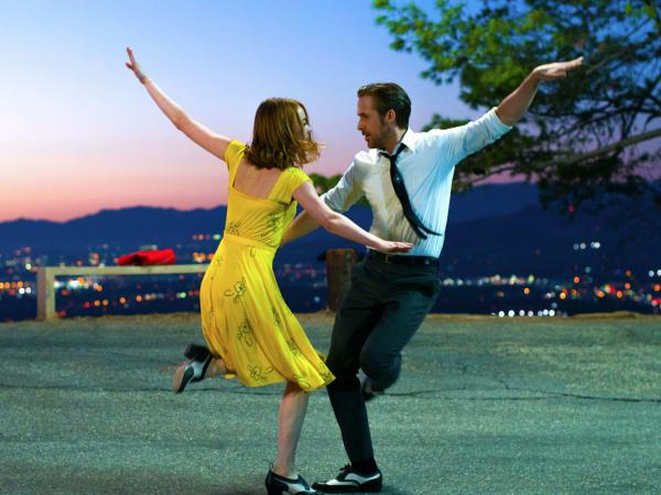 Ryan Gosling and Emma Stone in La La Land
