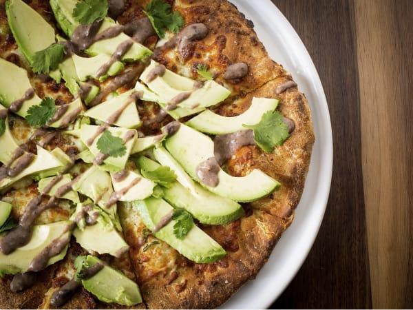 Avocado pizza at Doc B's Fresh Kitchen