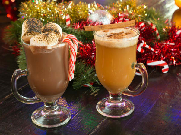 Holiday drinks at High Fives bar in Dallas