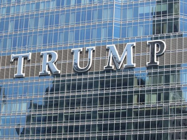 Trump hotel sign
