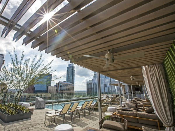 Westin Austin Downtown Hotel Pool Skyline