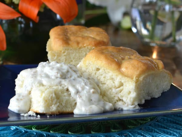 Guenther House breakfast food biscuits gravy