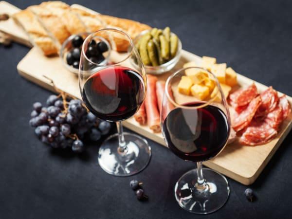 Wine, charcuterie