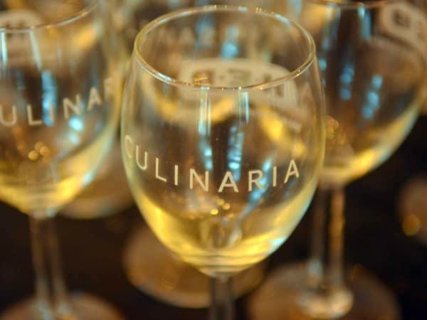 Culinaria Food and Wine Festival wine glasses