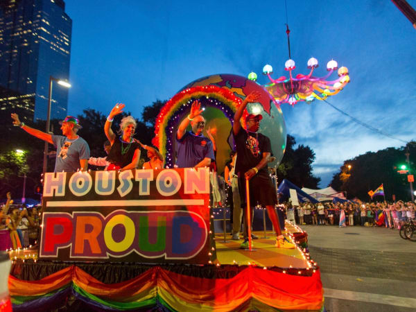 Houston Pride Parade 2016 float