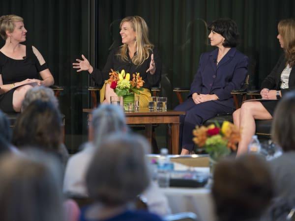 Women in Leadership luncheon LBJ Future Forum May 2016 Emily Ramshaw Jessica Honegger Christi Craddick Michelle Robertson
