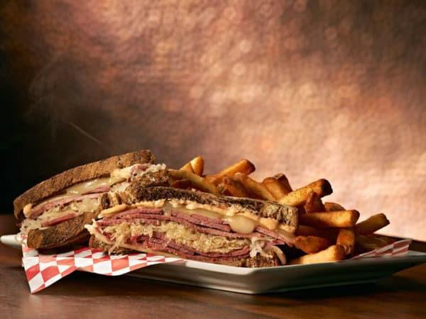 Reuben sandwich at Sherlock's Pub