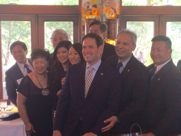 News, Shelby, Marco Rubio at La Griglia, Oct. 2015